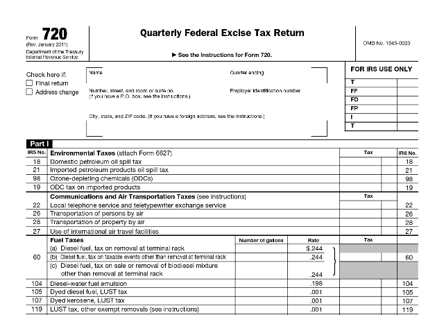 Irs Revises Excise Tax Form For Health Reform Law Research Fee